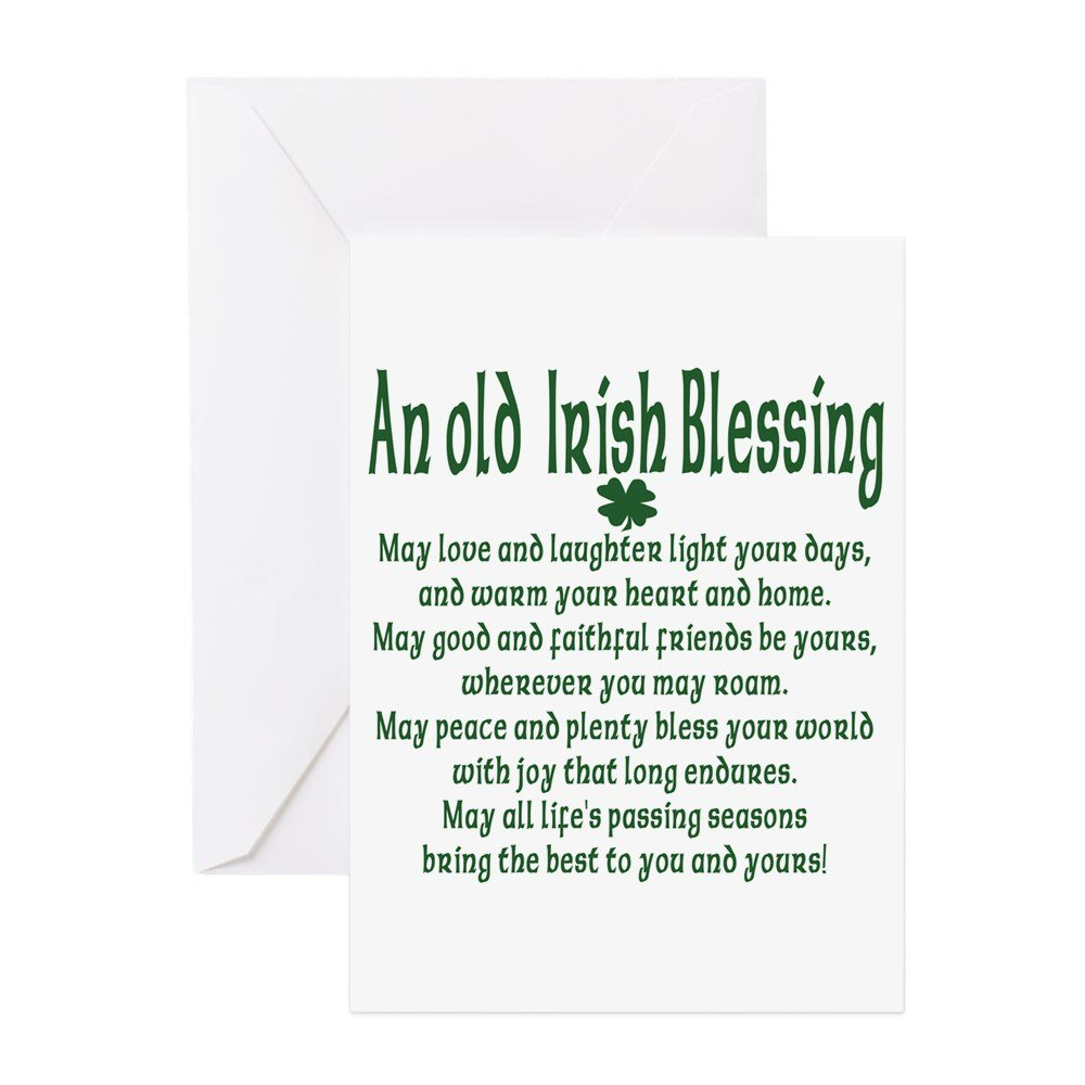 Amazon.com : CafePress - Old Irish Blessing - Greeting Card (20-pack ...