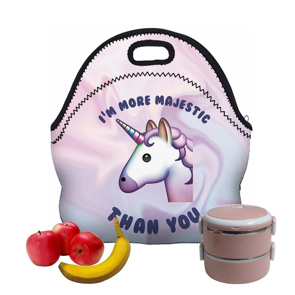 SeBeLi Neoprene Lunch Tote Bag - Insulated Waterproof Zipper for Picnic Women, Adults, Kids, Girls, Boys