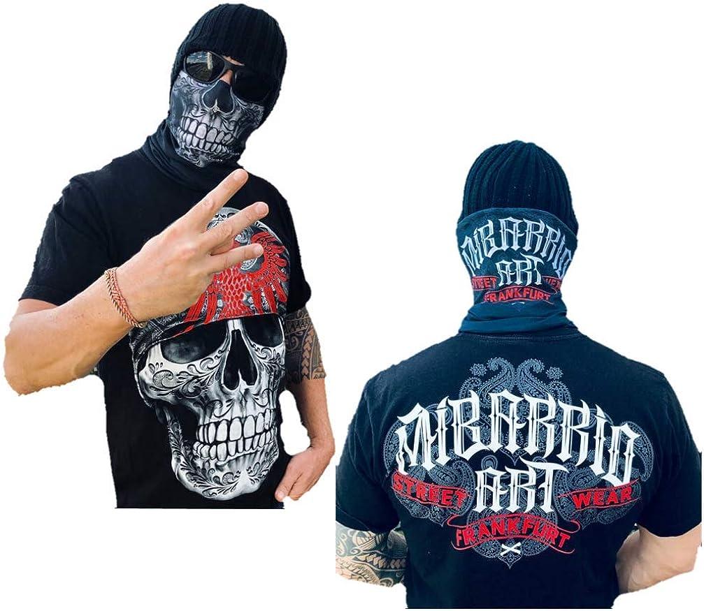 Mi Barrio Art Skull Multifunktiostuch Schlauchschal,Halstuch Kopfband