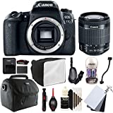 Canon EOS 77D 24.2MP Digital SLR Camera with EF-S 18-55mm F/3.5-5.6 IS STM Lens and Accessories