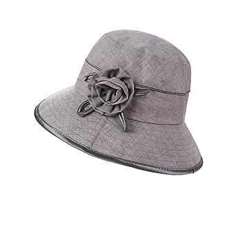 MKHDD Sombrero del Pescador Al Aire Libre De Las Mujeres Plegable UPF 50+ Sombrero De