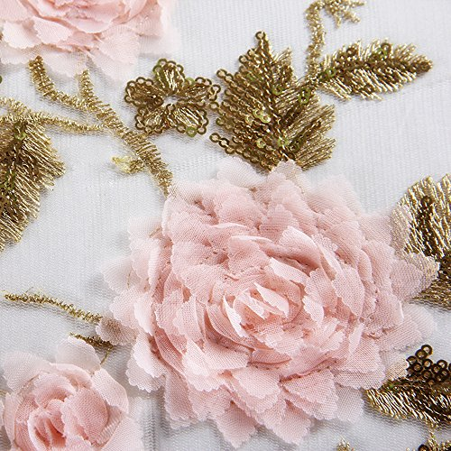 Honeystore Lace Parasol Decoration Bridal Shower Vintage Umbrellas for Wedding 3 Fold Beige by Honeystore (Image #3)
