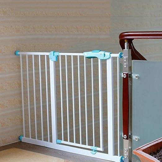 Dxg Barandilla bebé Puerta de Seguridad Extra Ancho Puerta del bebé Presión de Interior Cachorro Ajustable para Interiores Mascotas para niños Puerta de la Escalera Forma 75-194 cm Ancho Altura 77 cm: