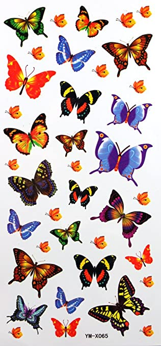 YiMei Wasserdicht Tattoo Sticker Farbe Schmetterling sexy Kinder ...