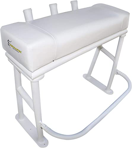 Center Console Boat Leaning Post (Bench Seat) with Folding Foot Rest [Fishmaster] detail review
