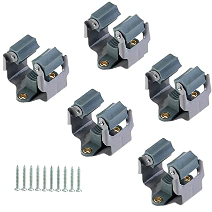 Amazon Com Acronde 5pcs Mop And Broom Holder Wall Mounted Garden