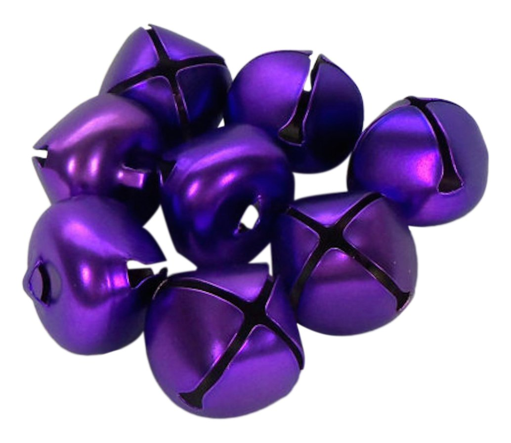 ArtVerse Holiday Jingle Matte Purple-25mm-8 Pieces, 8 Bells Darice 1148-27