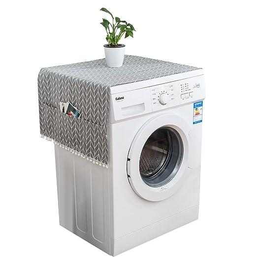 Papasgjx Funda para lavadora (cubierta delantera, antipolvo, color ...