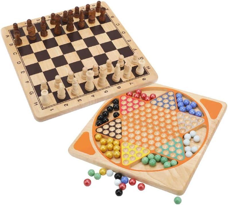Reversible Damas de ajedrez Multifuncional 2-en-1 Juego de Mesa Hijos Adultos de Padres e Hijos Juguetes educativos: Amazon.es: Hogar