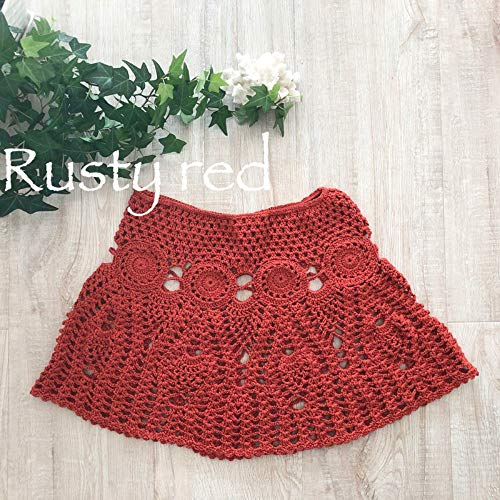 La En Crochet À Dame Jupe Tricoté MainTaille jupe Plage A Évider Mini Qzbtu De Unique line 0wPk8nNOX