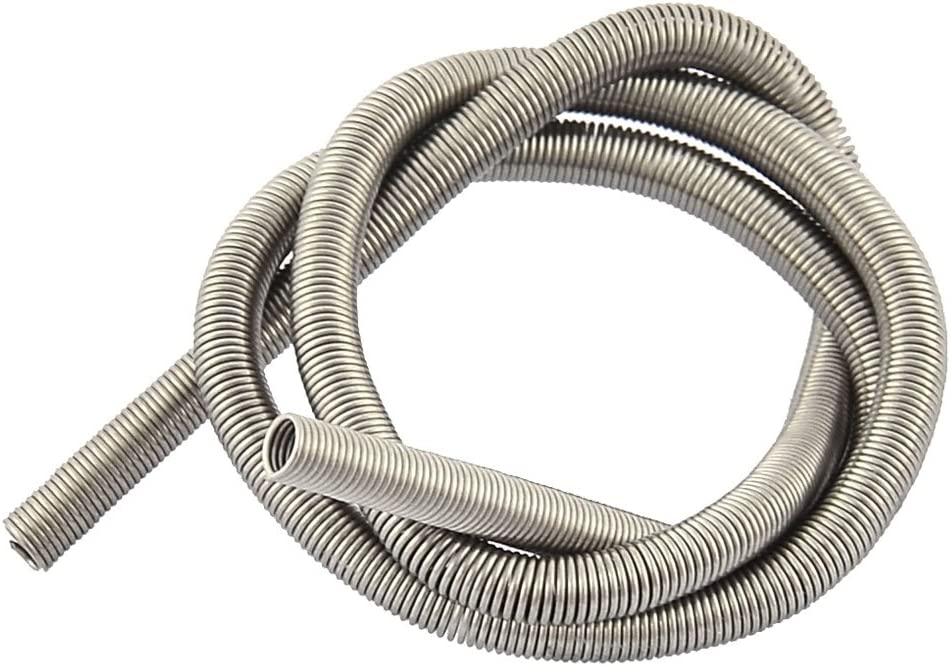 Aexit 800W Kilns Furnace Parts & Accessories Furnaces Metal Heating Element Coil 35.5cm Long Heating Elements Silver Tone