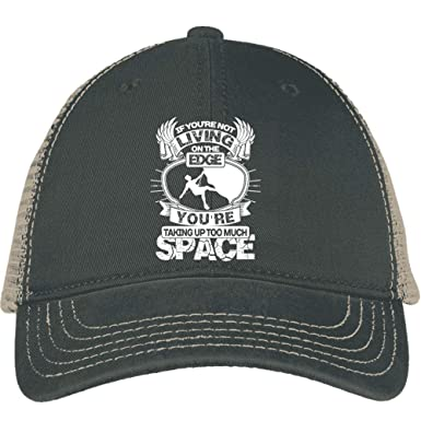 57de23d6 Taking Up Too Much Space Hat, Living On The Edge District Mesh Back Cap (
