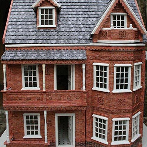 Dollhouse Miniature Modern Brick Wall Material By World
