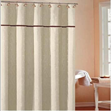 Superior Duck River Textiles Charisma Leaves Shower Curtain With 2 Pleats, 70u0026quot;  X 72u0026quot