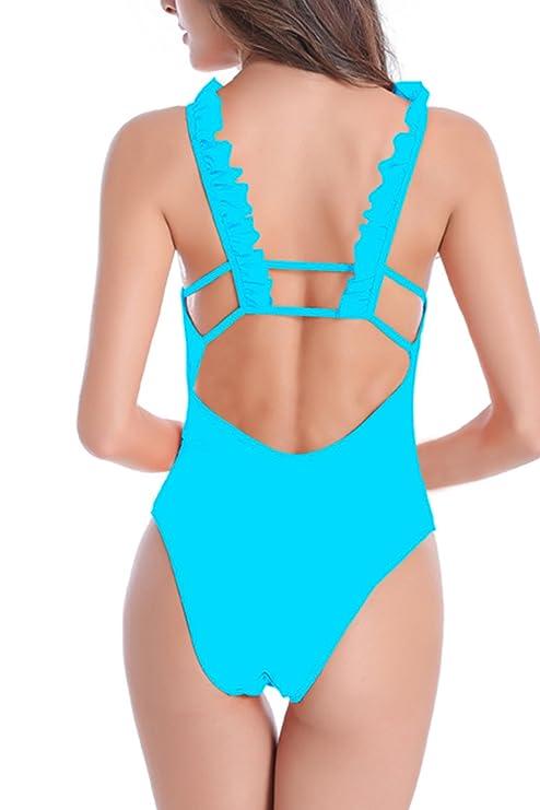 dernier Sexy Halter One Piece Bikini maillot de bain féminines Peachred M Pas Cher Avec Paypal Visitez Pas Cher En Ligne combien JAtPDlhiZ
