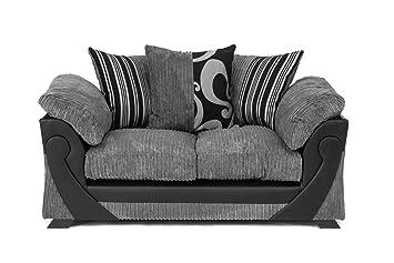 Abakus Direct Illusion Ecke Cord Chenille Und Kunstleder Sofa In
