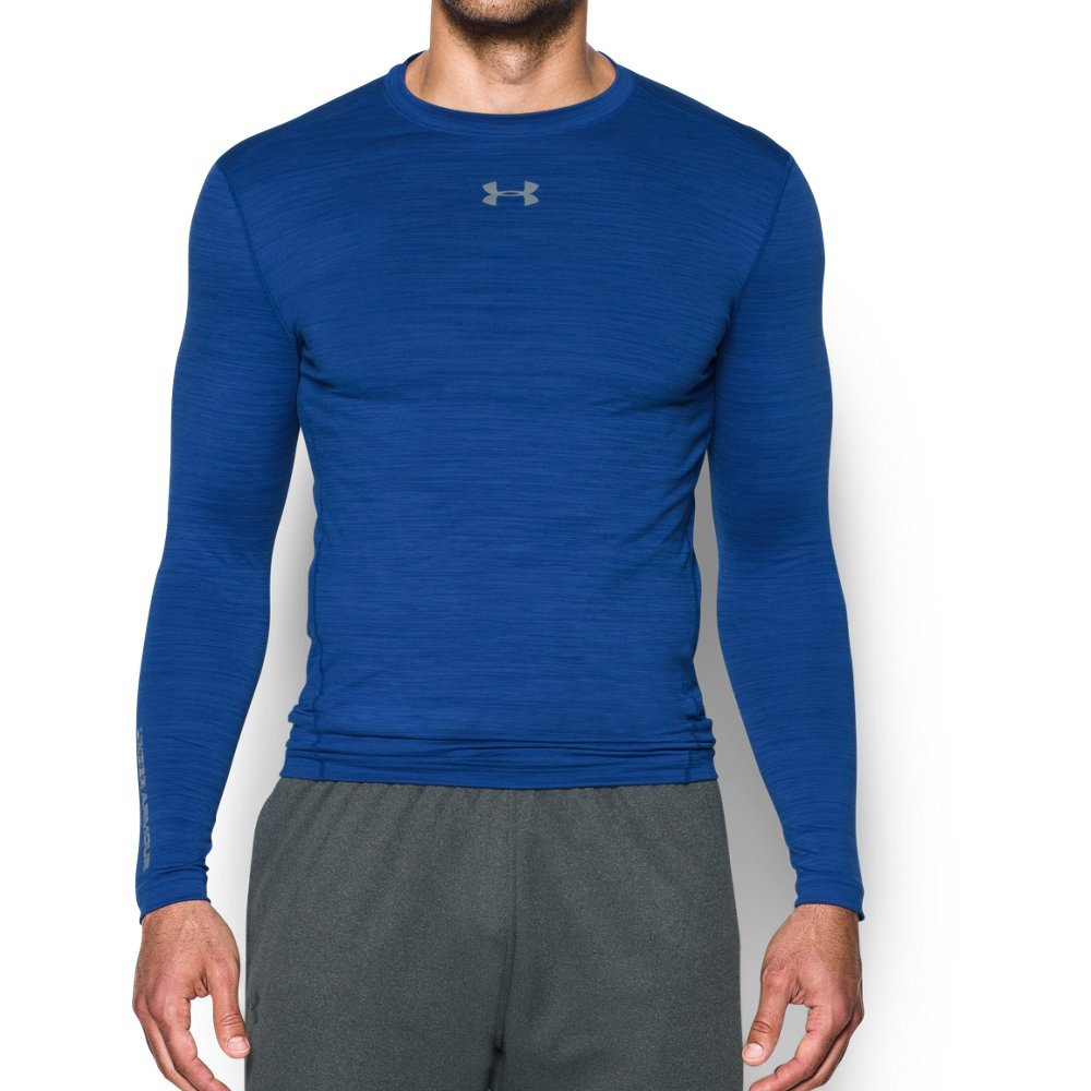 Under Armour Men's ColdGear Armour Twist Compression Crew, Royal/Steel, Small by Under Armour (Image #1)