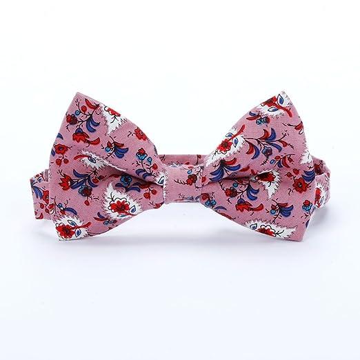 89bab4eaed116 Amazon.com: Peppercorn Kids Boys Bow Tie - Floral Print - Mauve ...