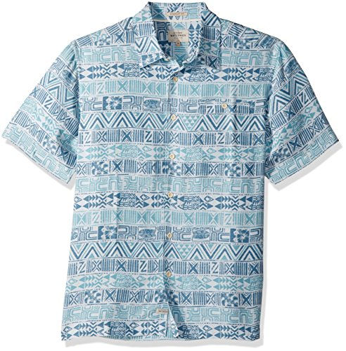 Hawaiian Street Shirt (Quiksilver Waterman Men's Lunu Button Down Shirt, Plein AIR, S)