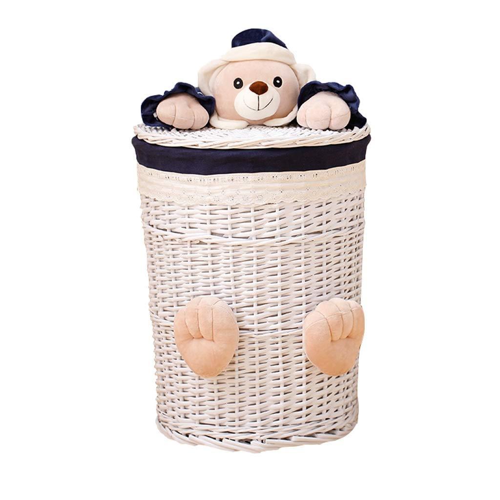 LTS 籐カバー洗濯浴室浴室衣類玩具仕上げ収納バスケット収納バスケット 収納バスケット (サイズ : Small) B07PYSMC8W  Small