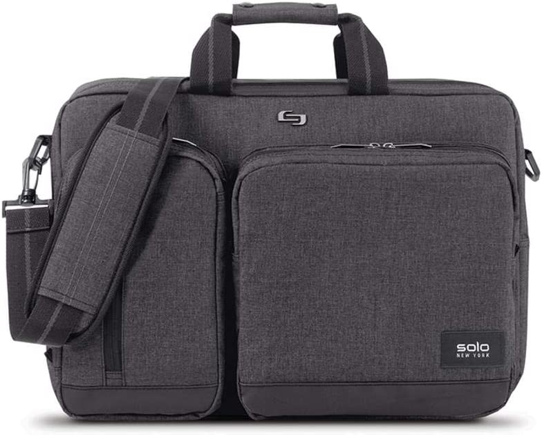 Amazon Com Solo Duane Convertible Briefcase Fits Up To A 15 6 Inch Laptop Converts To Backpack Briefcase Or Messenger Bag Laptop Bag For Men Or Women Grey