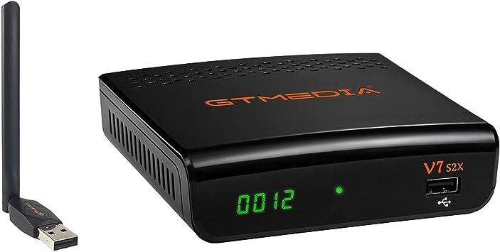 Todo para el streamer: GTMEDIA V7S2X HD DVB-S/S2/S2X Decodificador Satélite Receptor de TV Digital con Wi-Fi Incorporado / SCART / 1080P Full HD / FTA Soporte CC CAM, PVR Ready, Newcam, Youtube, PowerVu Dre Biss Clave