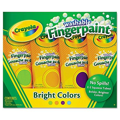 Crayola 4ct Washable Fingerpaints Secondary