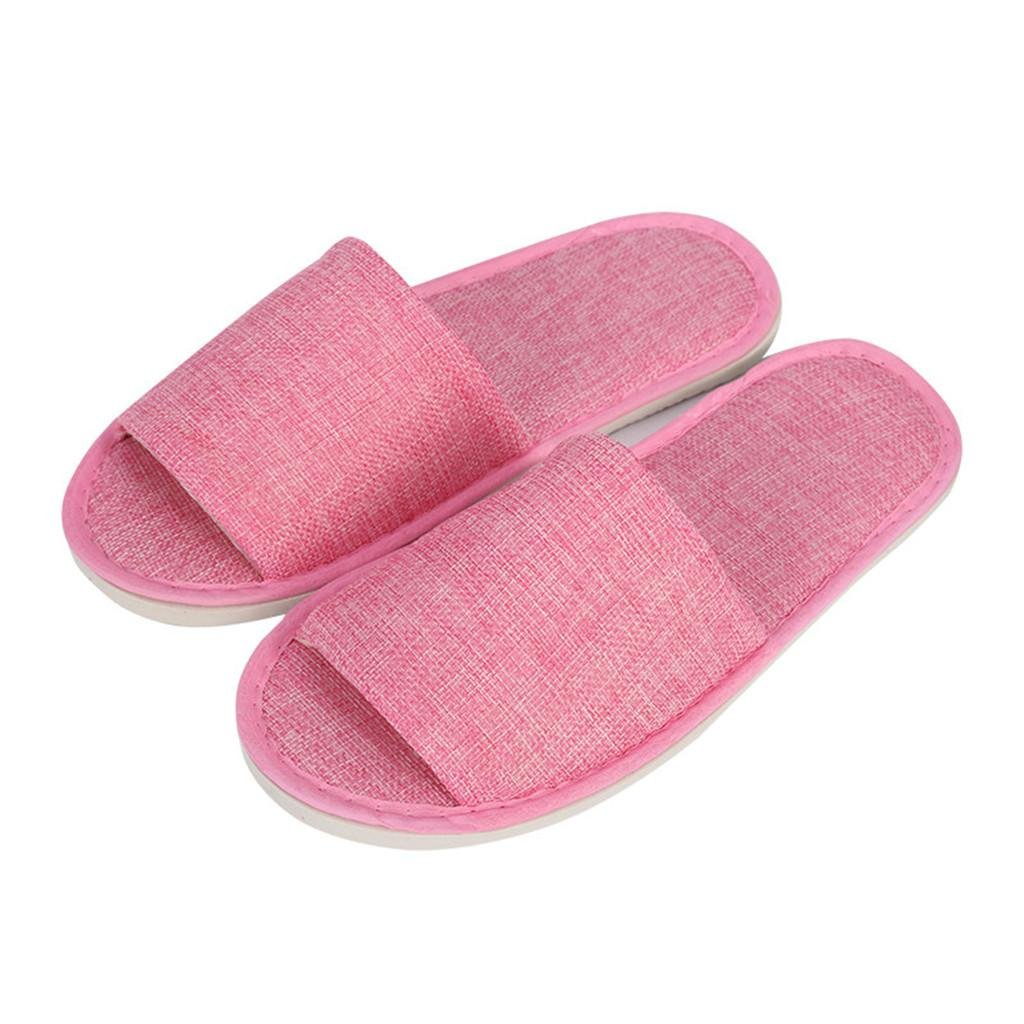 Women/Men Spa Slippers Flip Flops Open Toe Washable For Hotel,Home,Travel,Spa Use 10 Pairs , 001