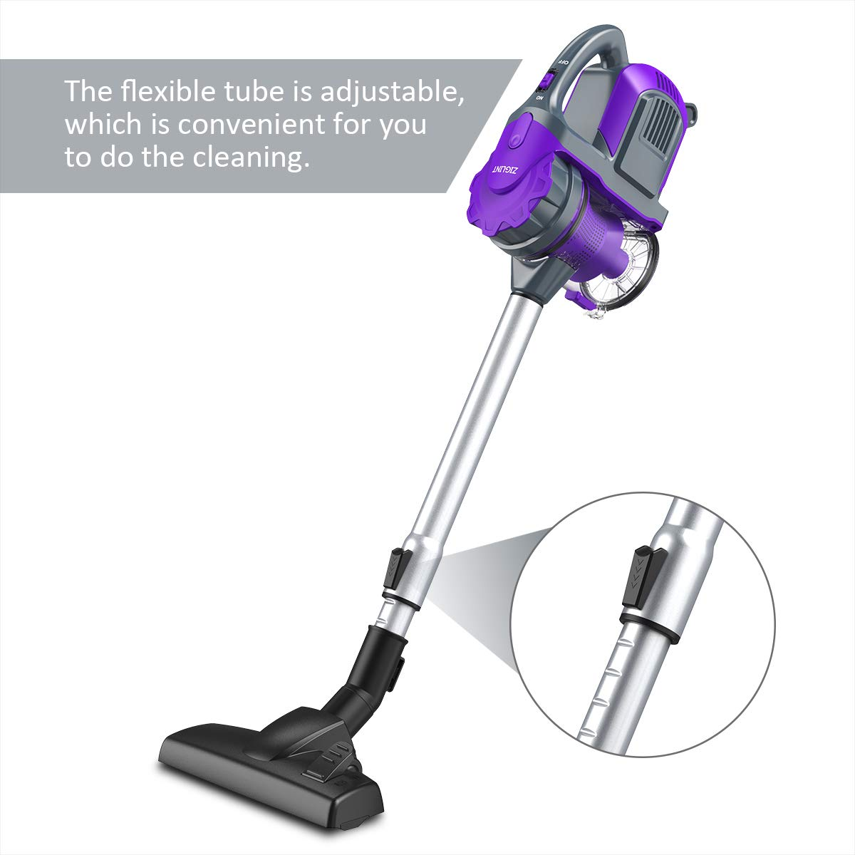 ZIGLINT Cordless Vacuum Cleaner 2-in-1 Lightweight Hand Held Vacuum Cleaner Portable Vacuum Cleaner for Car Pet Hair with Long Lasting Battery and Wall- ...