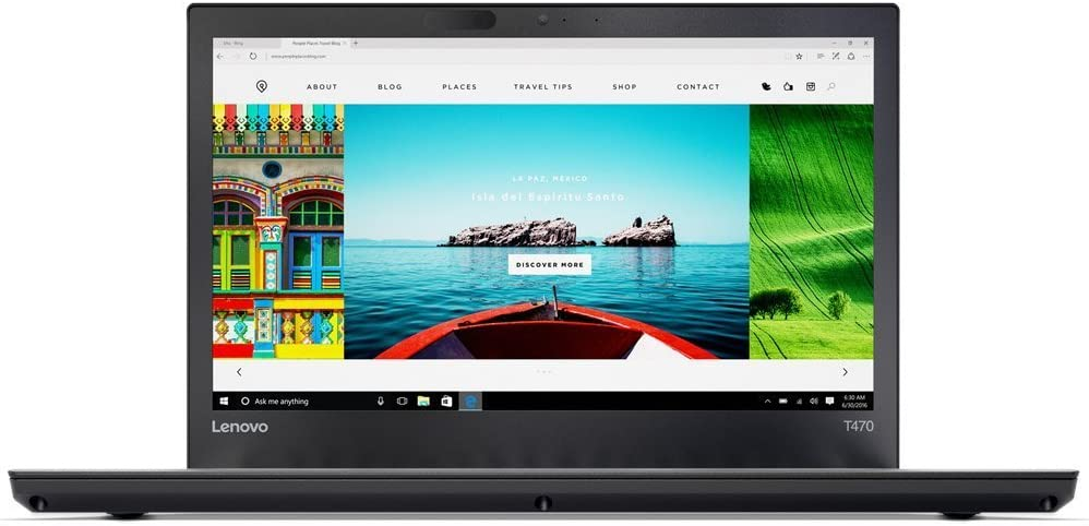 """Thinkpad T470 Intel Core i7-7600U 14"""" FHD (1920x1080) 256GB SSD Windows 10 Pro Business Laptop (16GB DDR4,256GB Opal SSD)"""