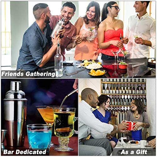 25oz Cocktail Shaker 17pc Bartender Kit with Stand,Professional Stainless Steel Bar Tool Set Bartending Kit Perfect for Drink Mixing Experience by Segauin (Image #3)
