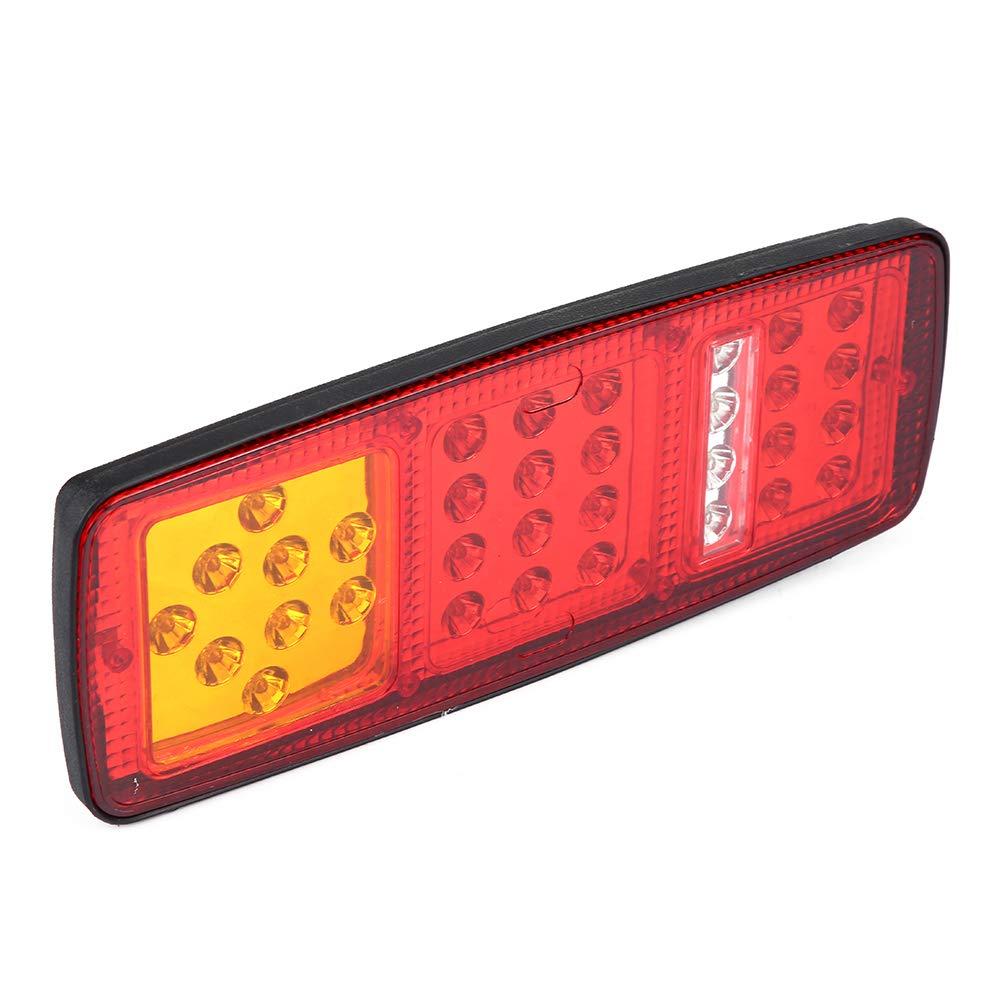 EBTOOLS Rimorchio per Camion RV Luci Posteriori Bar 12V Super Bright Rosso-Ambra-Bianco Indicatori LED Luci Posteriori Indicatori di direzione Freno di retromarcia Lampada da corsa