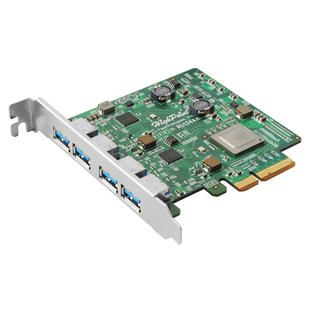 High Point RocketU 1344A PCI-Express 3.0, Four USB 3.1 Gen 2.0 Ports by High Point