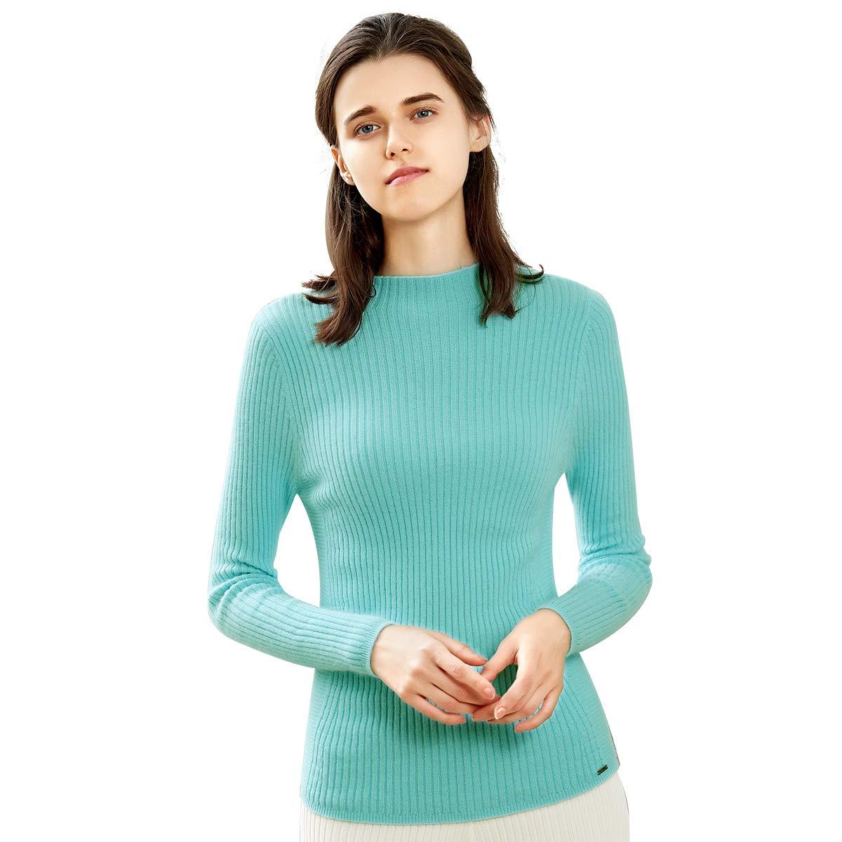 Zhili 2018 Winter Half A Turtleneck Pure color Cashmere Sweater