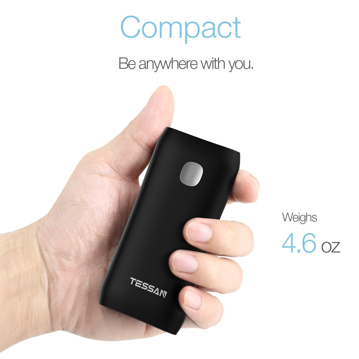 TESSAN Portable Power Bank iPhone - 5200mAh Battery Pack Quick Charge Portable Charger - Fast External Battery Pack for Cellphone, iPad, Samsung Galaxy Android