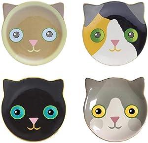 Streamline Fine Feline Cat Dessert Plates Set