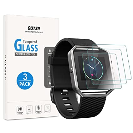 Amazon.com: OOTSR Screen Protector for Fitbit Blaze, (3 Pack ...
