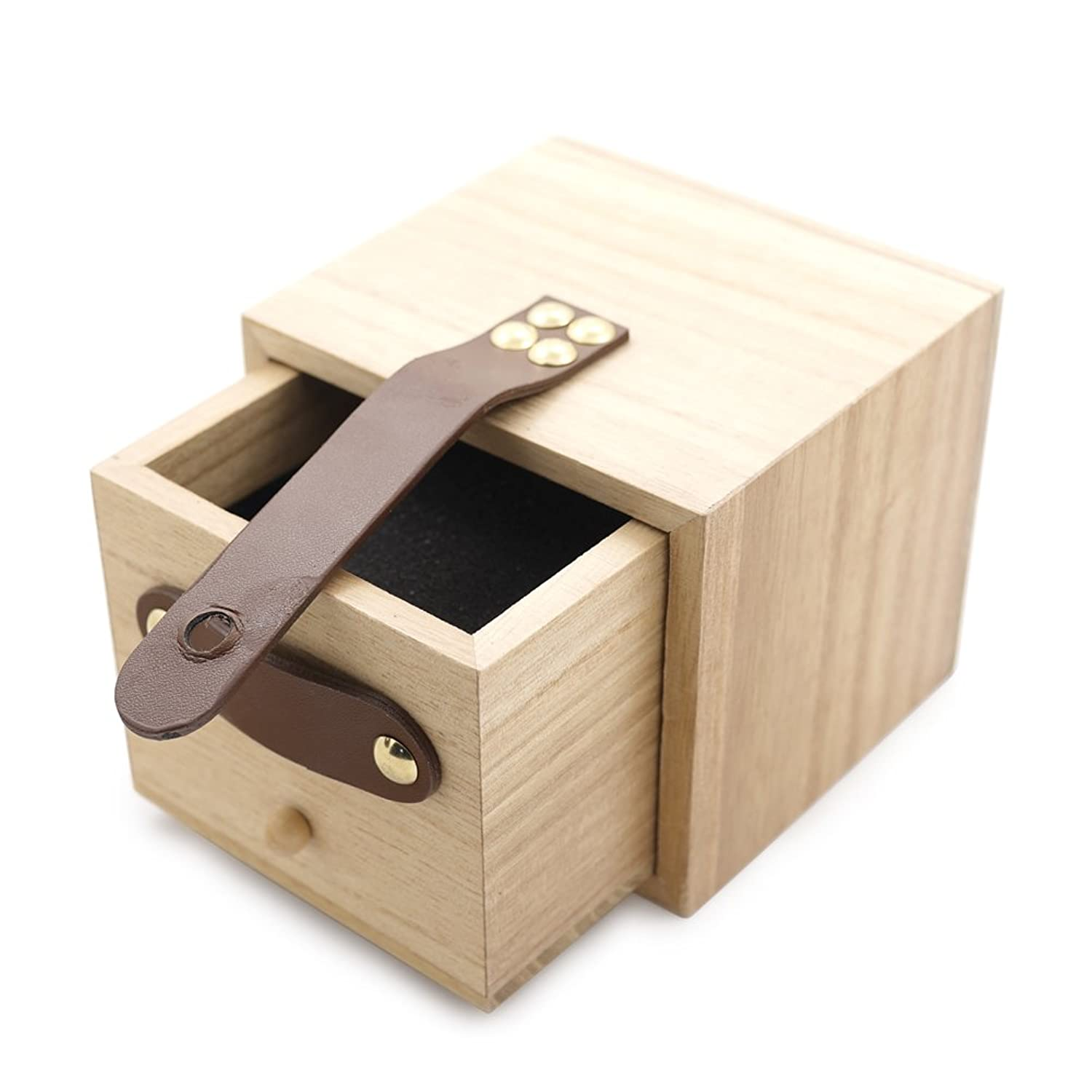 bobo鳥木製竹用時計ボックスとしてギフトボックスWatches Wooden Drawer Boxes B0769DXX6DWooden Drawer Boxes