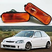 VXMOTOR 96-00 Honda Civic Amber Lens Dome Side Marker Lights Lamp Replacement Fender JDM Si EK9