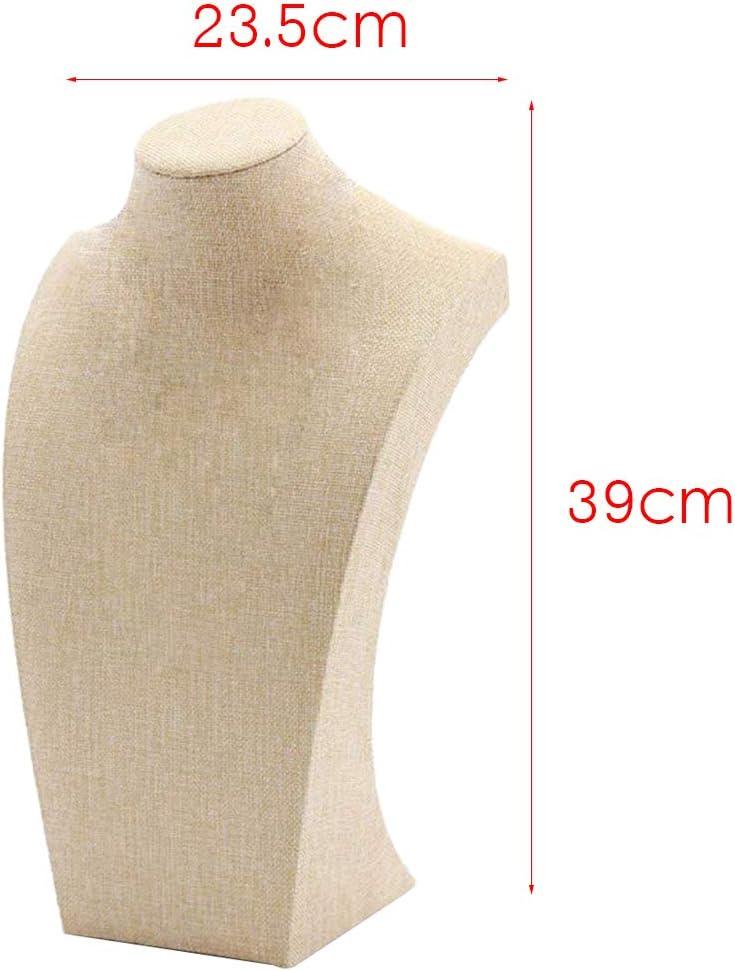 Beige Homyl Pr/ésentoir /à Collier Pendentifs Buste /à Bijoux Affichage de Bijouterie E 115 /× 200mm