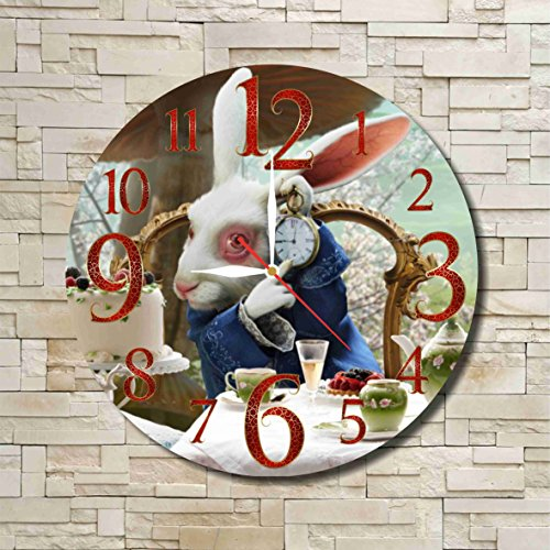 Alice In Wonderland Family Costume Ideas (Alice in Wonderland - The White Rabbit 11.8'' Handmade Wall Clock - Get unique décor for home or office – Best gift ideas for kids, friends, parents and your soul mates)