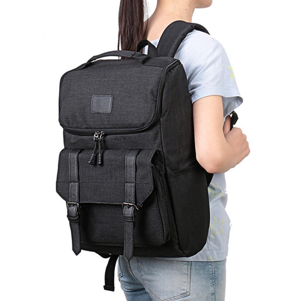 Mayanyan Korean Double Shoulder Bag Mens Fashion Canvas Leisure Business Travel Backpack 18 inch