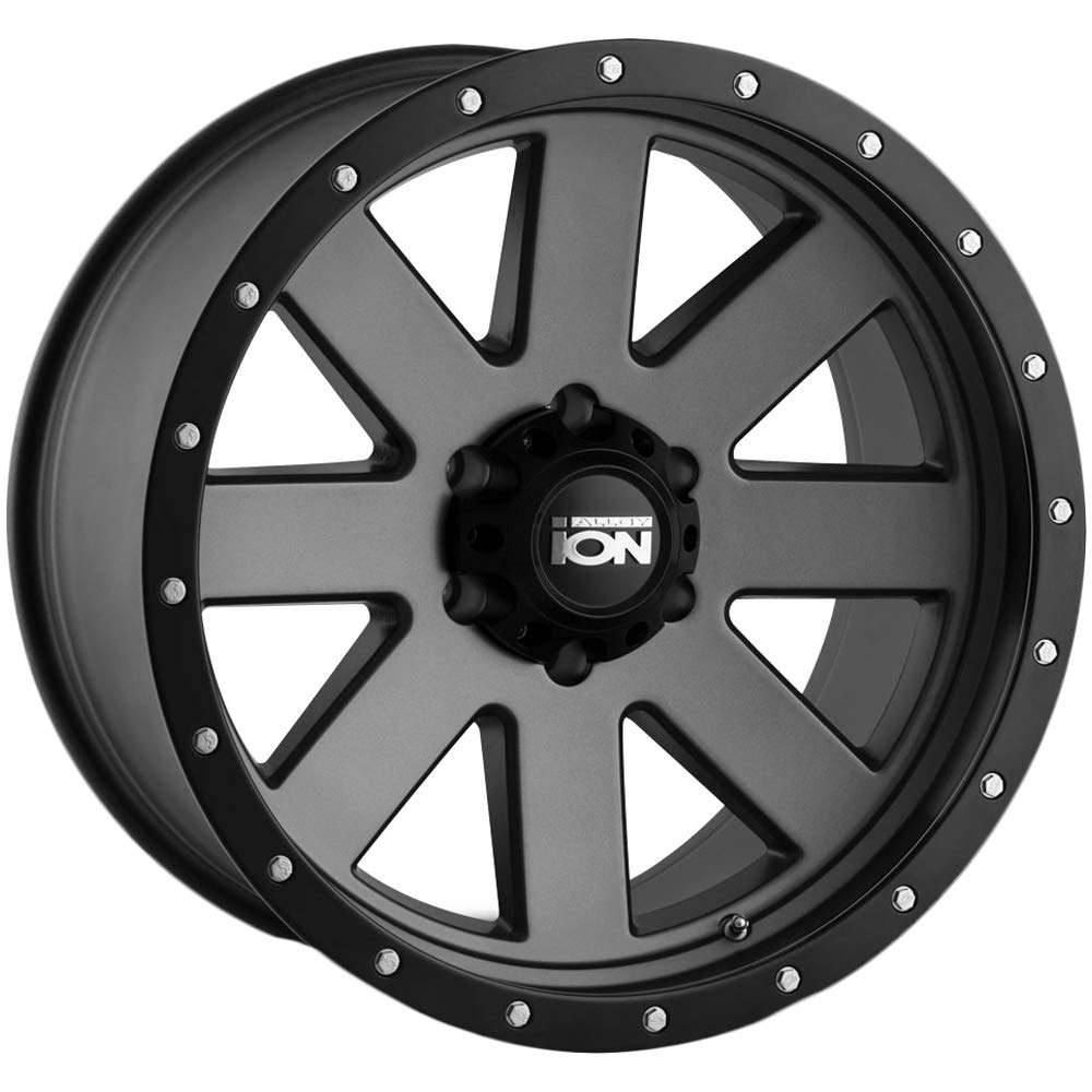 18 x 9. inches //6 x 139 mm, 0 mm Offset Ion 134 Matte Gunmetal//Black Beadlock Wheel with Painted Finish