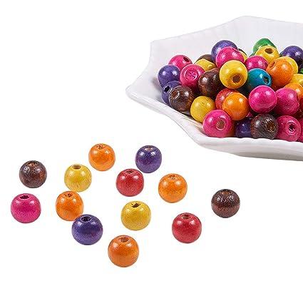Wood Beads Tube Oval Orange Color. 100pcs