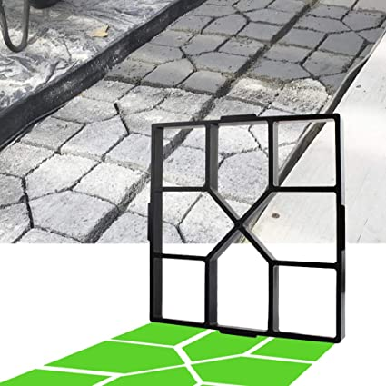 Details about  /Concrete Molds Reusable Walk Path Mold DIY Walkway Lawn Garden Yard Pavers Black