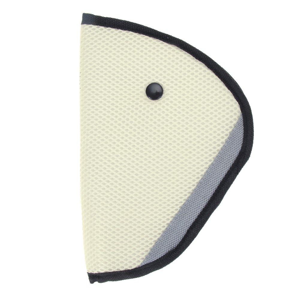 domybest correa de arnés de coche cubierta de seguridad de niños cinturón de seguridad cinturón de seguridad Ajustador Conjunto Niño Safter Covers beige beige