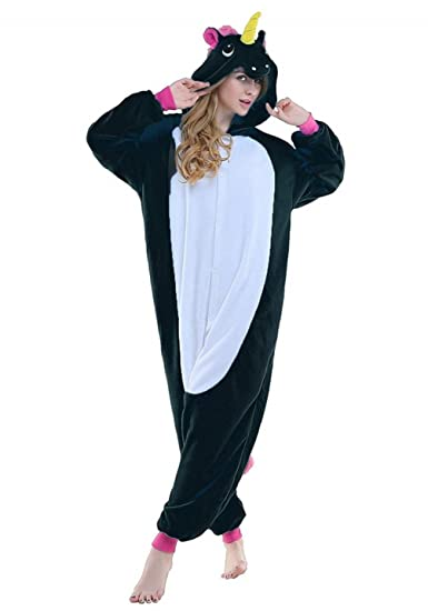 474849bef1 Amazon.com  Unicorn Onesie Pajamas Unisex Clothing Adult Cosplay Costume   Clothing