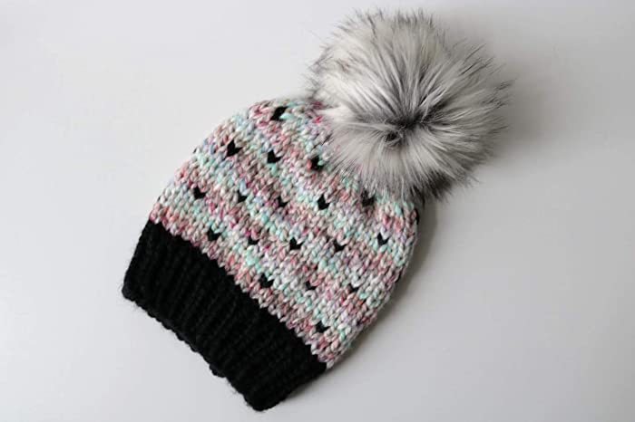 d547396ba32 Image Unavailable. Image not available for. Color  Knitted Fair Isle Knit  Beanie ...