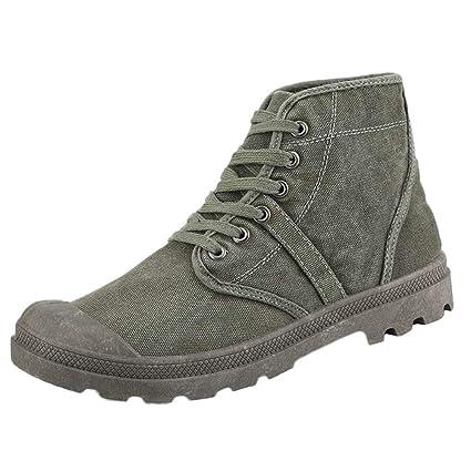 30edd221c3 Amazon.com: Dreamyth Fashion !!! Men Flat Lace-UP High-top Military ...