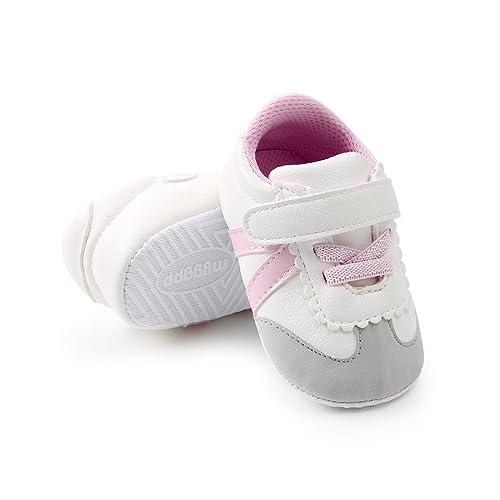 912f6bffccc32 LUWU Baby Boy Girls Soft Sole Anti-Slip Infant Toddler First Walking Crib  Shoes